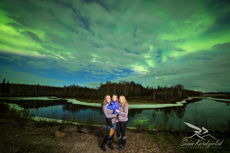 Aurora Portrait Chena Lakes Fairbanks Alaska Sean Kurdziolek Photography