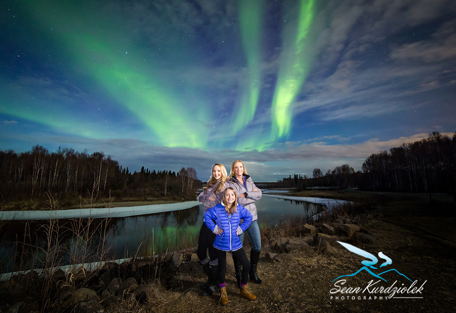 A Girls Adventure Northern Lights Portrait photographer - Fairbanks Alaska