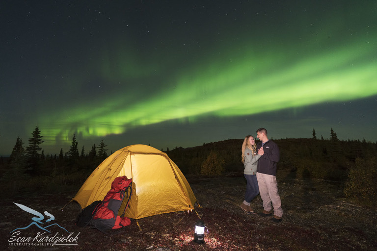 Camping under the Aurora in Fairbanks with Sean Kurdziolek Portraits