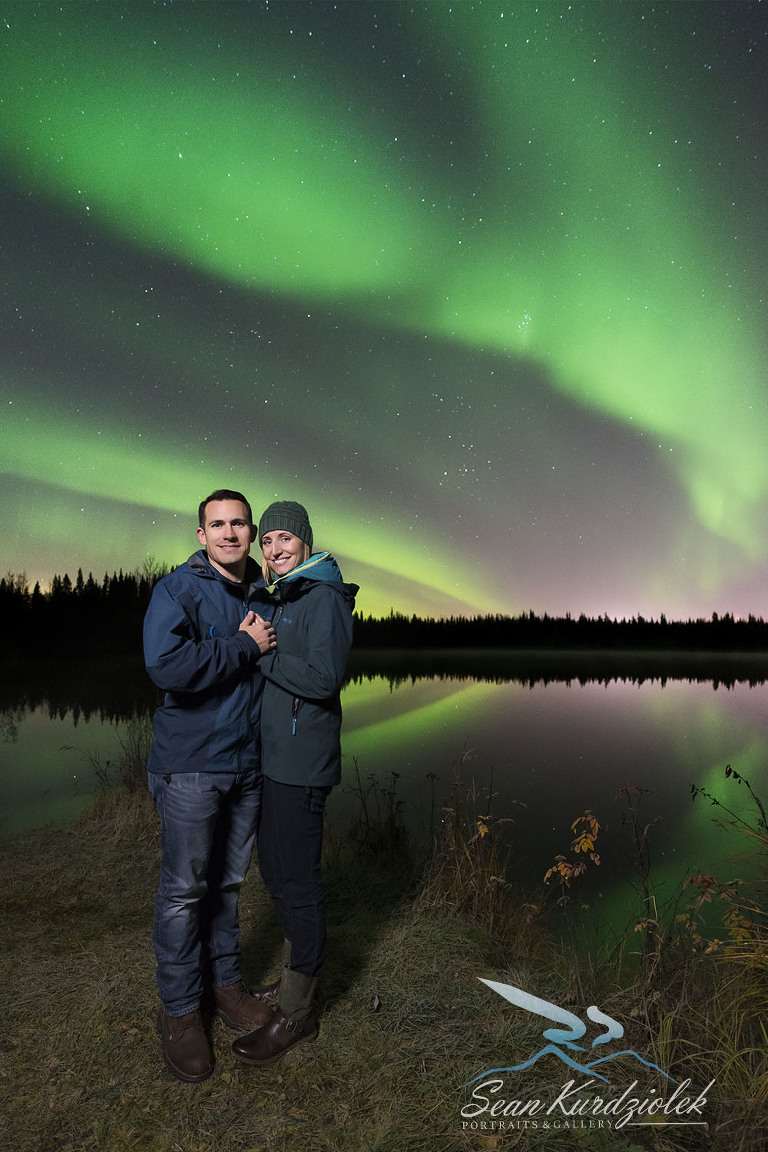 Aurora Portraits in the Fall